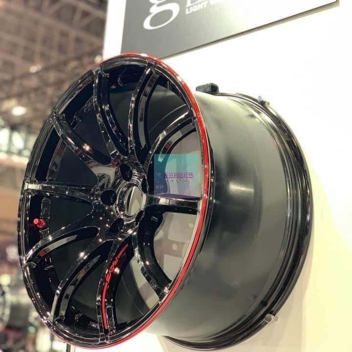 超鑫鋁圈 正 Rays 57Transcend REV 19吋旋壓鋁圈 5孔108 5孔112 5孔114.3 黑紅限定