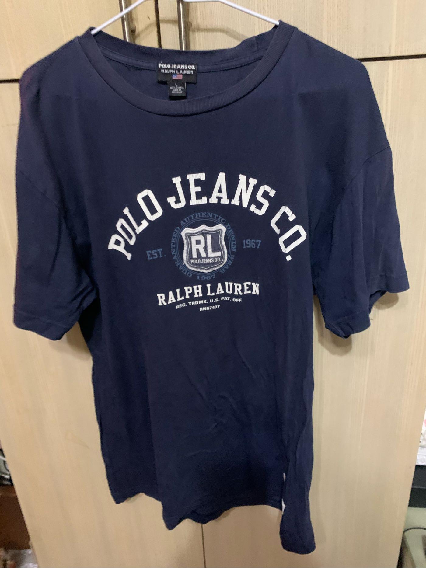專櫃polo jeans co.ralph Lauren. Size. L肩20胸20長28袖7有使用痕圖6字體乾裂(櫃2抽2)