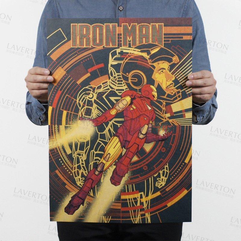 【貼貼屋】鋼鐵人 IRON MAN 超級英雄 MARVEL 牛皮紙 海報 壁貼 店面裝飾  電影海報 565
