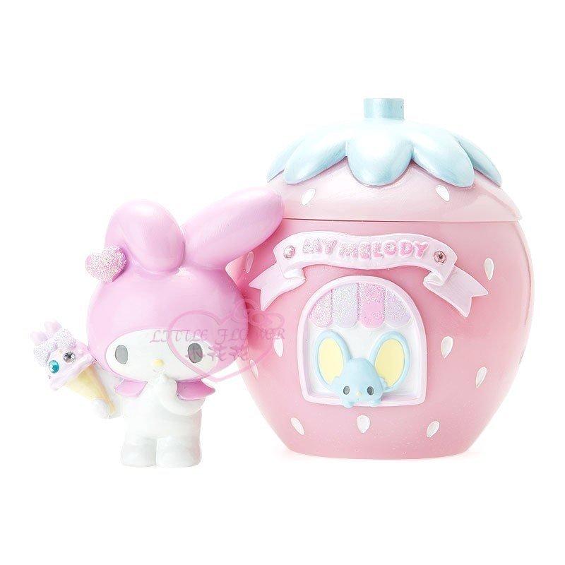 ♥小花凱蒂 ♥My Melody美樂蒂 粉色草美 立體手拿蓋收納盒收納罐是飾品盒置物罐萬用盒-33207308