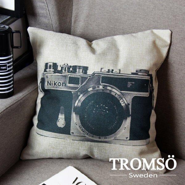 TROMSO- 棉麻抱枕-U45復古單眼 相機麻布靠枕黑白簡約IKEA極簡風文青☆大樹小屋【H0326001】M2