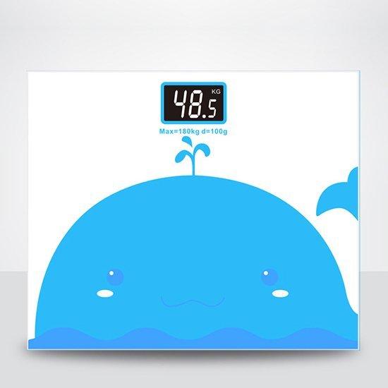 精準秤 強化 體重秤 人體秤 體重機 電子秤 安全 玻璃 公斤 ❃彩虹小舖❃【M091】卡通動物體重計