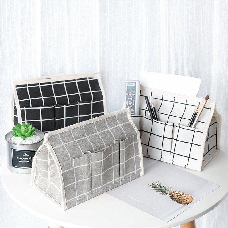 清新自然 棉麻 文青風收納面紙盒 簡約淡雅 置物收納 小物收納 6色