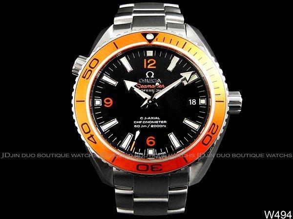 金鐸精品~W494 OMEGA 歐米茄 SEAMASTER 8500同軸橘海馬潛水600米 自動上鍊男用腕錶 全新珍藏品