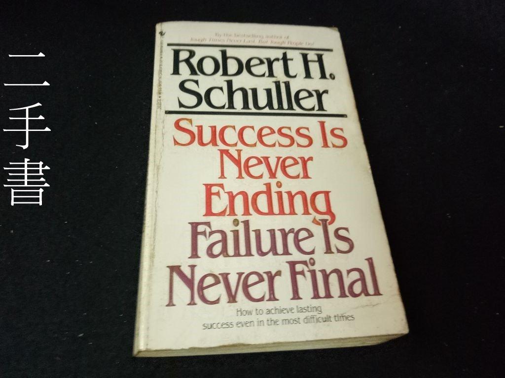 【珍寶二手書齋Bw】Success Is Never Ending, Failure Is Never Final