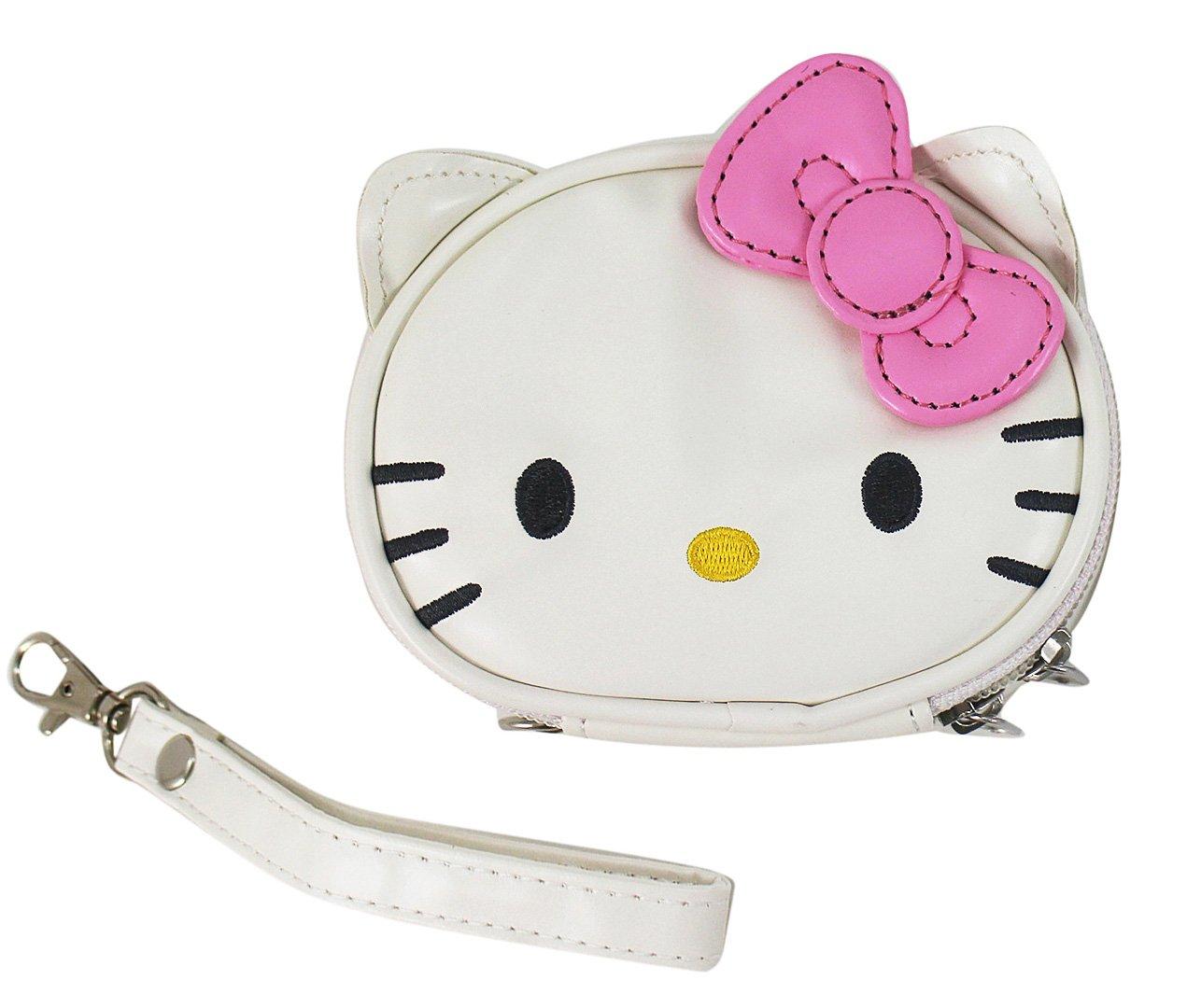 【卡漫迷】 Hello Kitty 手拿包 粉 仿皮革 ㊣版 萬用袋 收納包 附掛繩 零錢包 化妝包 凱蒂貓 飾品盒