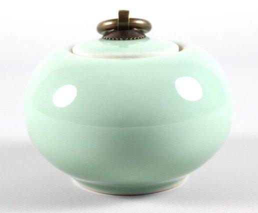 「還願佛牌」龍泉青瓷 小號 陶瓷 香粉盒 香粉罐 密封 香粉罐 香道 香道用品