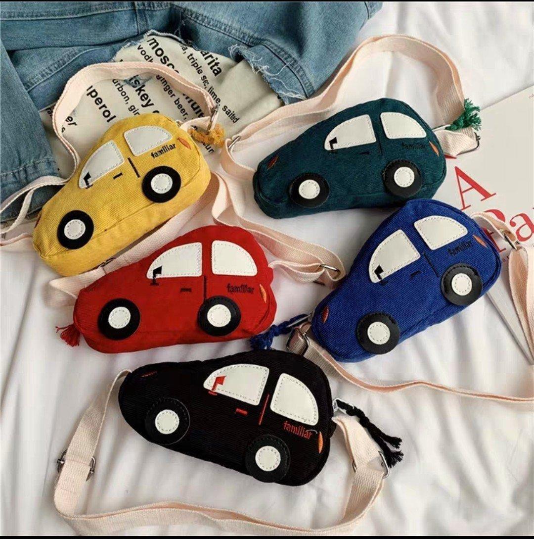 五色可選 兒童側背包 車車 男童背包 汽車 可愛 兒童背包