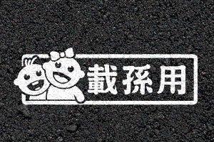【老車迷】  3M反光車貼 載孫用 多款可選 (可換色、換字、改尺寸)