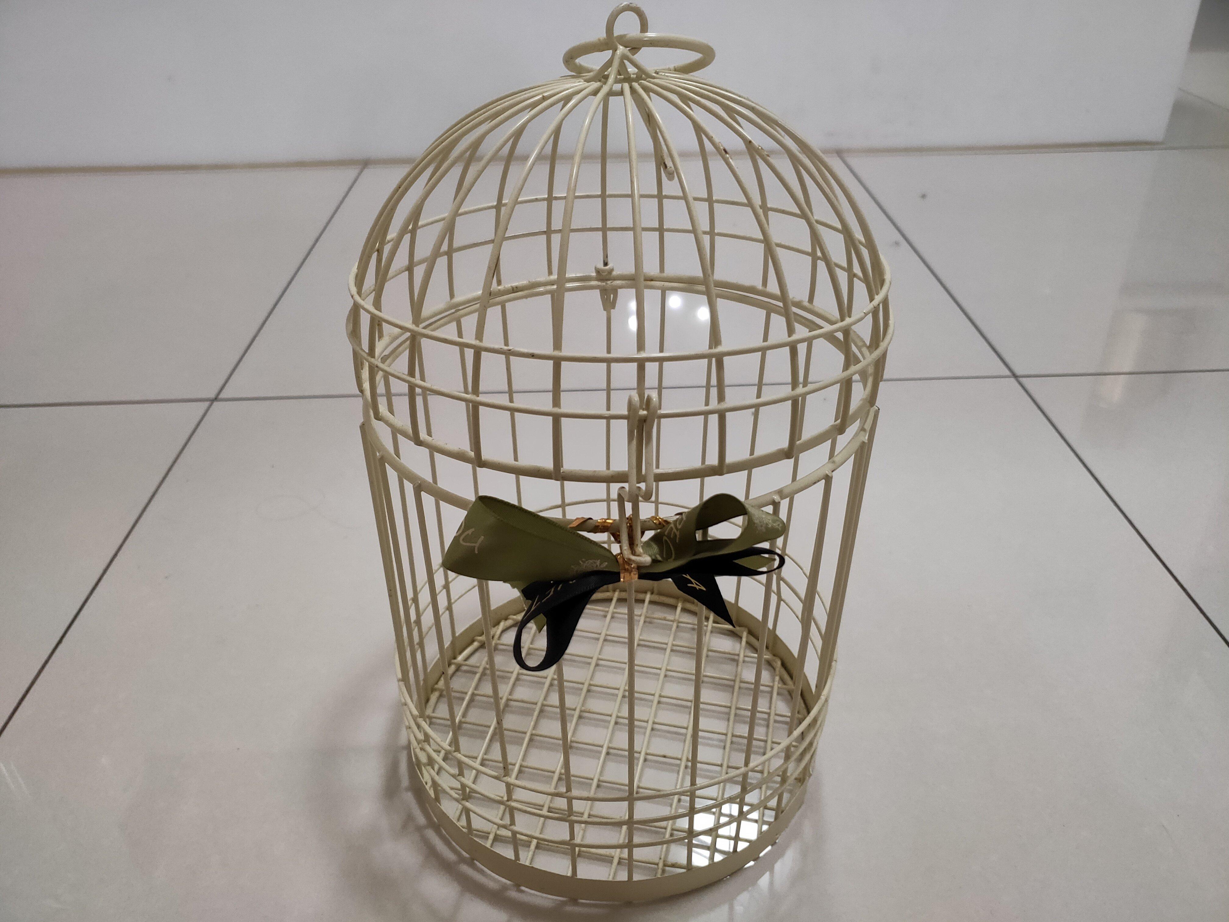 (二手)迷你歐式鐵藝裝飾鳥籠 復古創意 鳥籠擺件 櫥窗 婚慶 鳥籠 婚禮小物 訂婚 喜宴簽到桌面布置