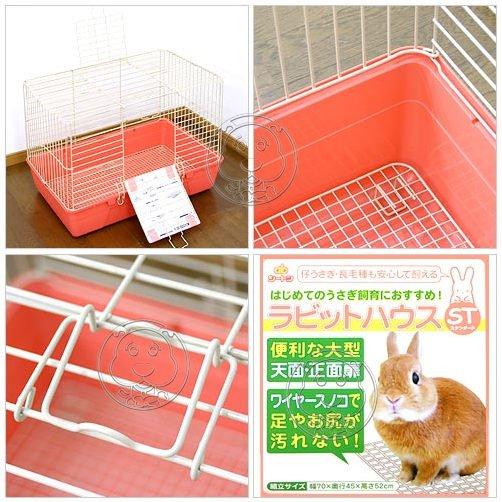 【🐱🐶培菓寵物48H出貨🐰🐹】日本AB 精緻兔籠有橙/綠色隨機出貨 特價1799元(限量5個)(限宅配