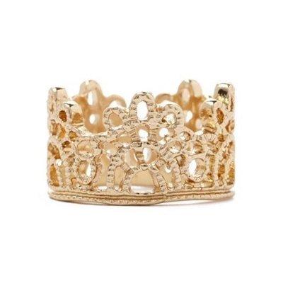 正品 FOREVER 21 ornate filigree ring 華麗金絲鏤空戒指