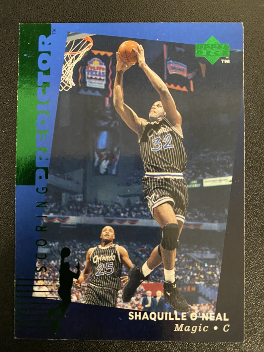 Shaquille ONeal 1995-96 Upper Deck Predictor #R2 Green