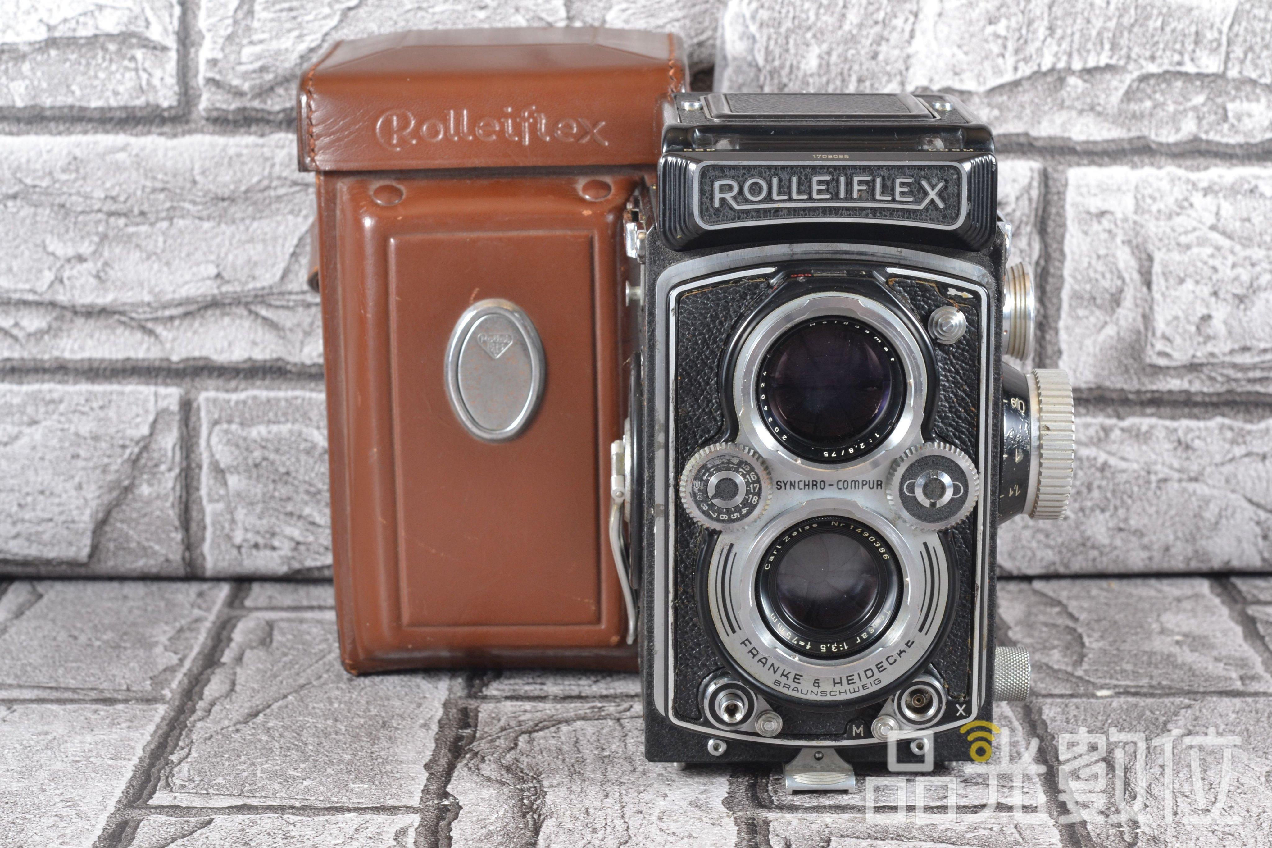 【台中品光數位】祿來 Rolleiflex 3.5B 75MM F3.5 中片幅 反光相機 雙眼相機 #78731T