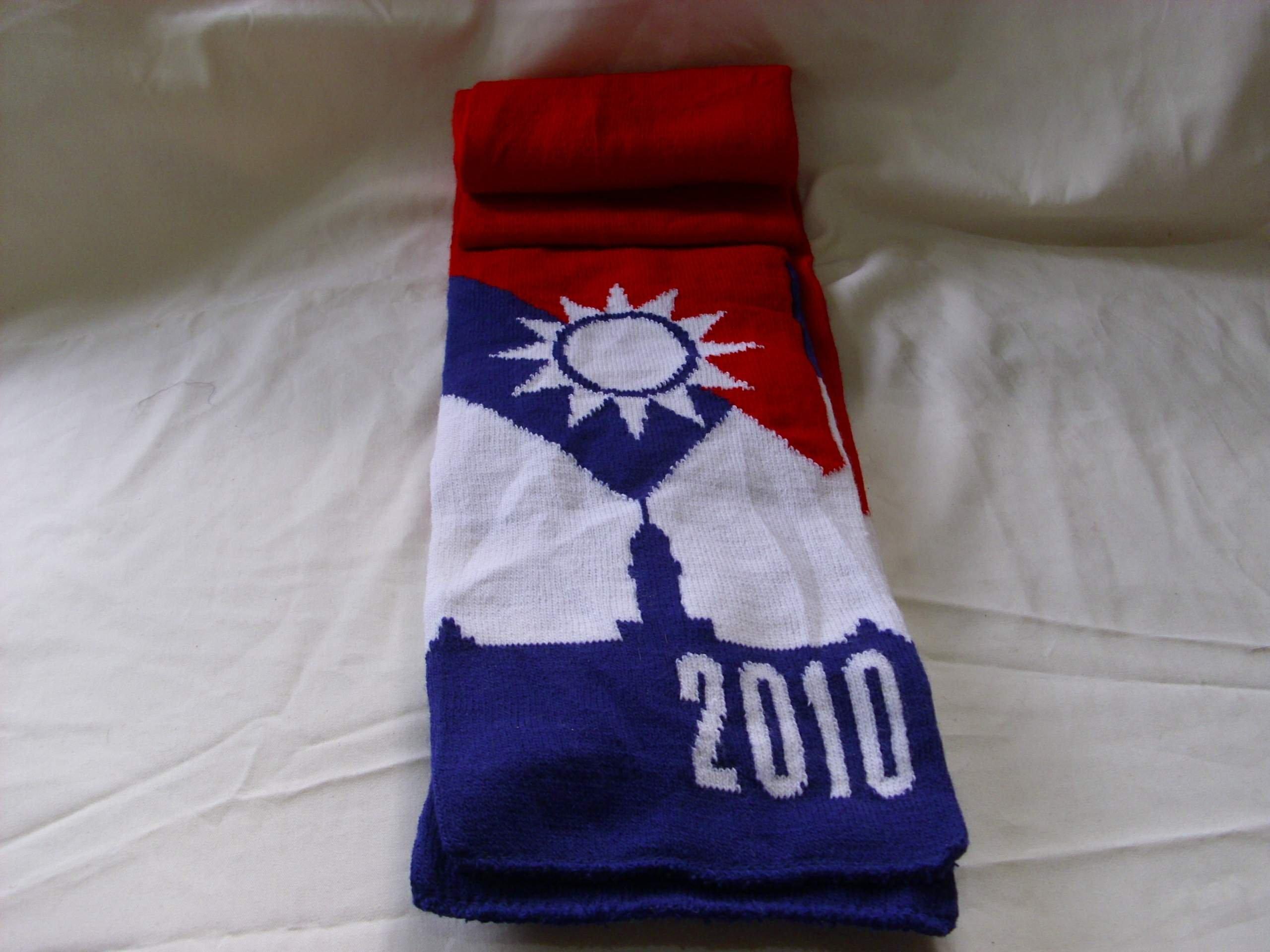 潮流圍巾 珍藏2010國旗 圍巾 舒適保暖.有手感的  款 女款也 生日