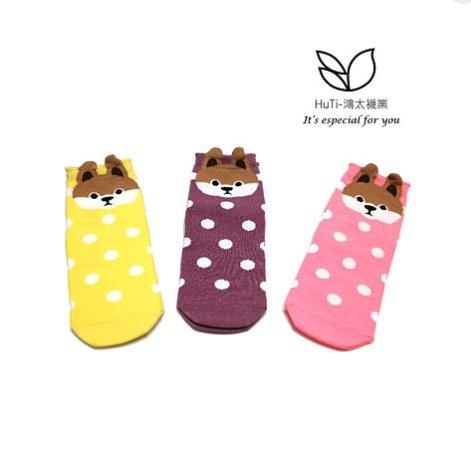 【3雙】S-SOCKs-HuTi柴犬可愛中長襪《兒童.成人襪》短襪 棉襪 女襪 學生襪 可愛襪 兒童襪 襪子 少女襪