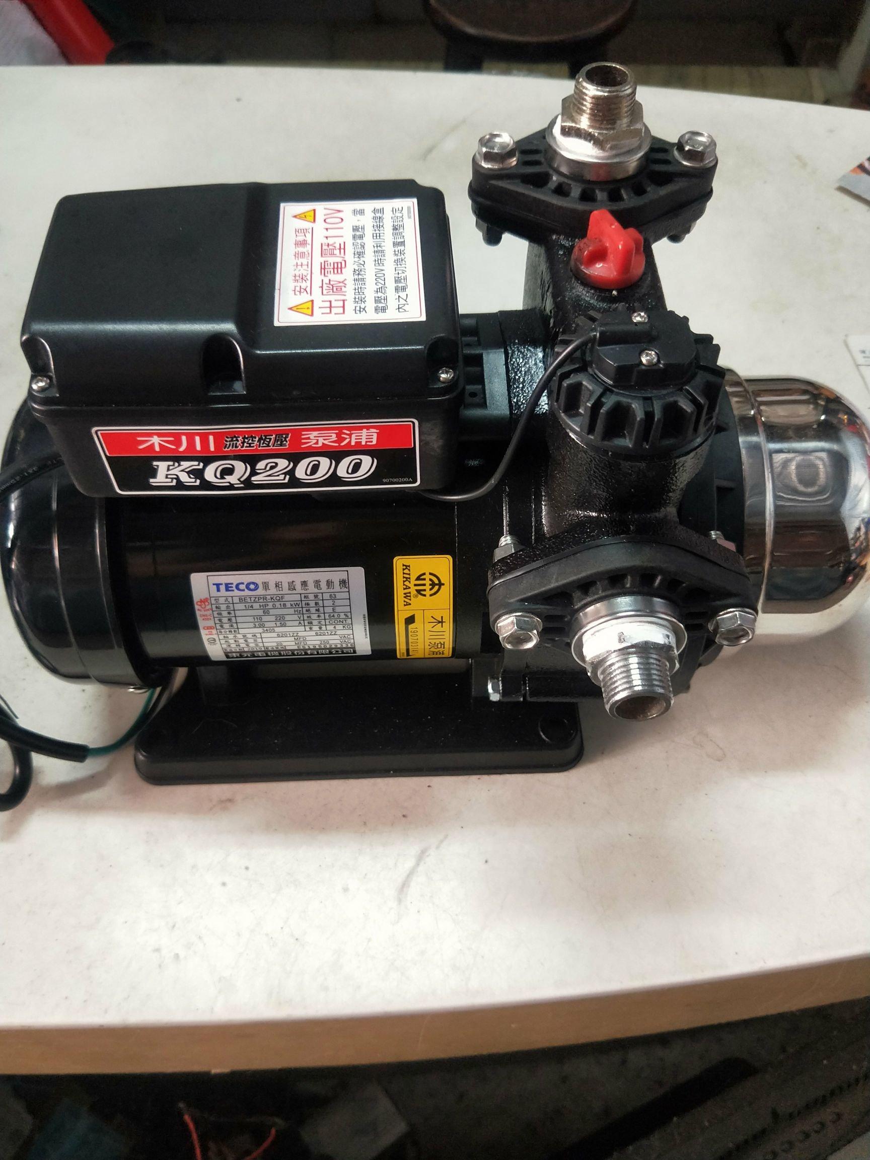 我要買 我要裝 我要修 到府安裝加壓馬達木川 大井 靜音型KQ200 KQ400N 傳統型 維修理電子控制器 壓力開關 啟動電容 拆舊換新