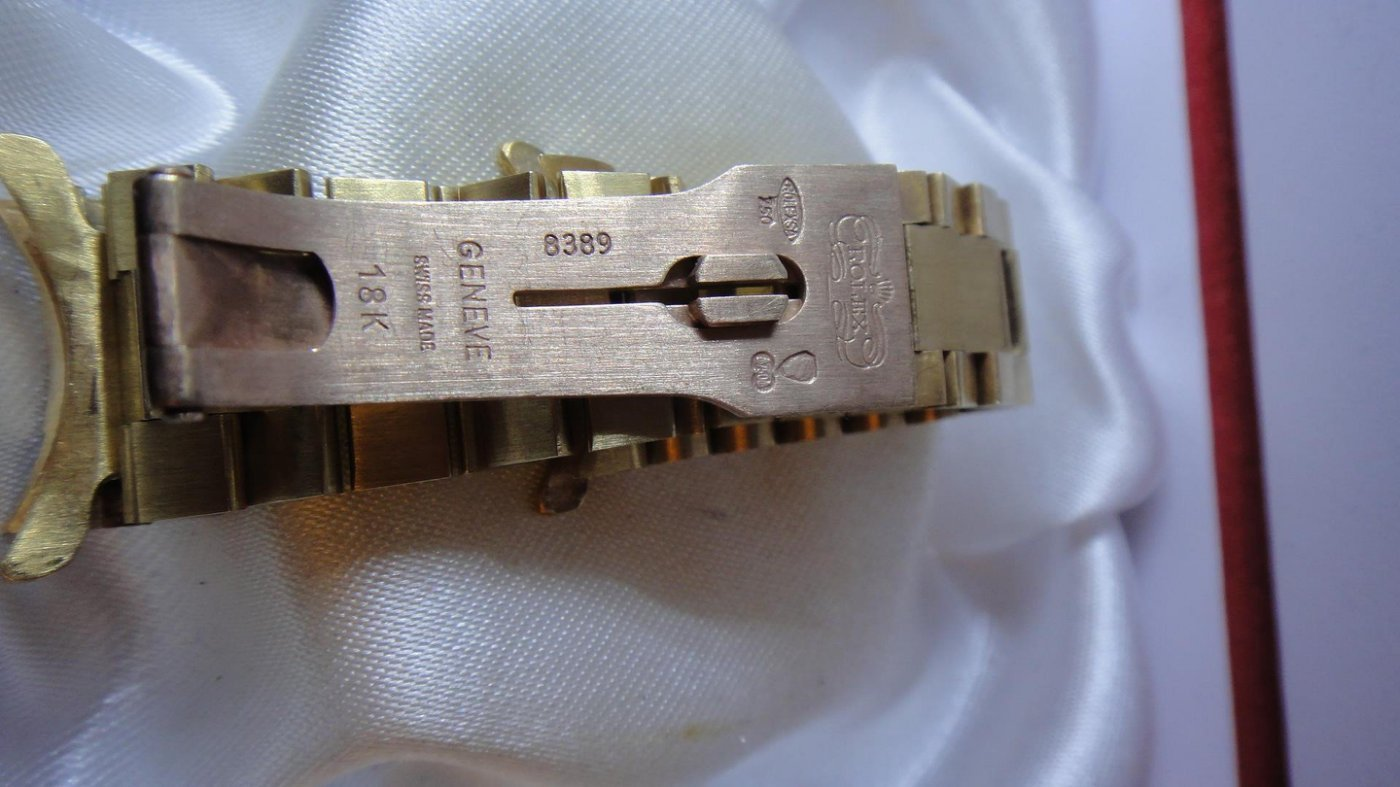 K金錶帶 二手 流當 rolex 勞力士 港裝 750 18K 8389 錶帶 47.88g 【尺寸】: 內圍 15cm