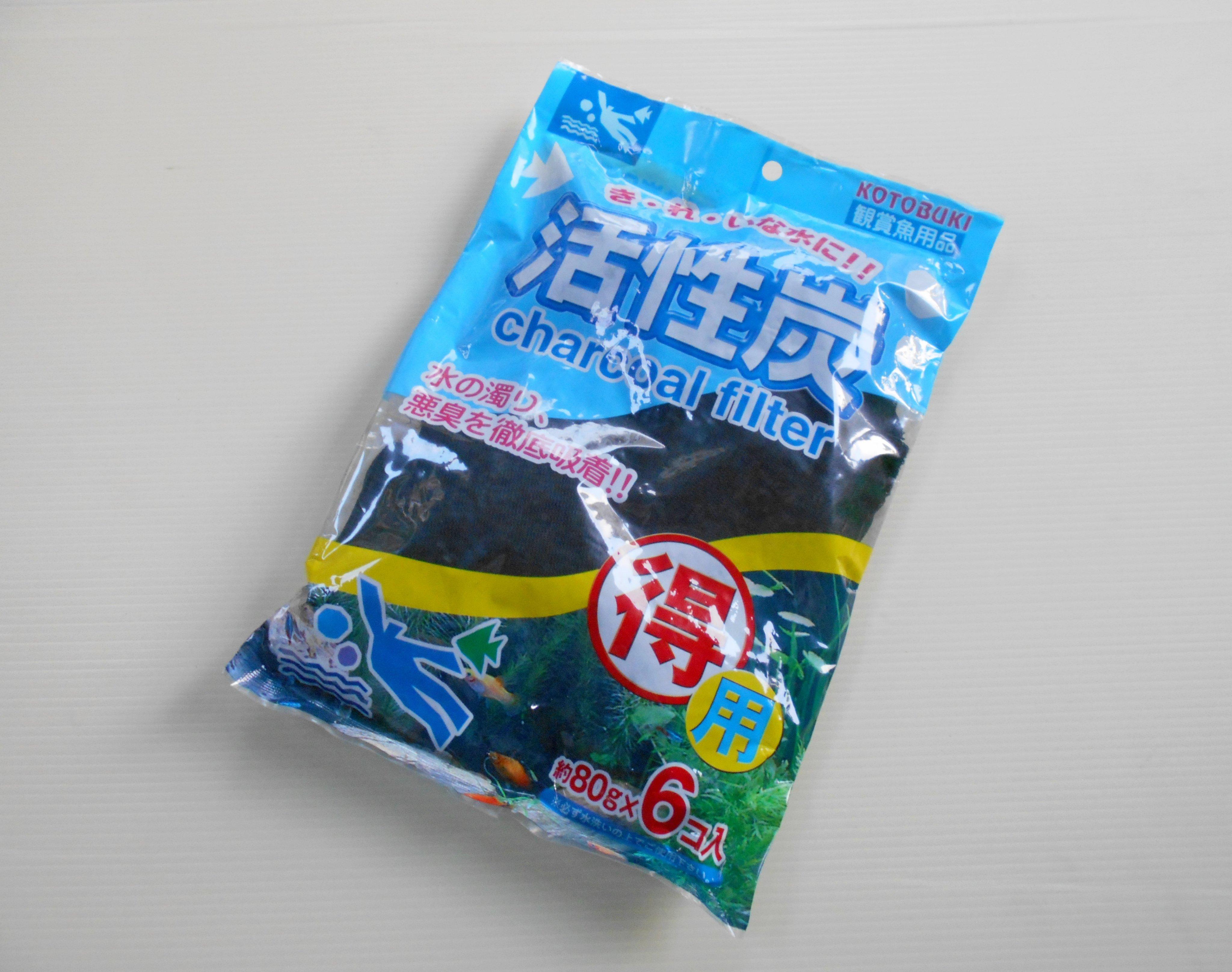 微笑的魚水族☆日本 KOTOBUKI【K-60 上部過濾槽用活性碳 附網袋 80g*6】