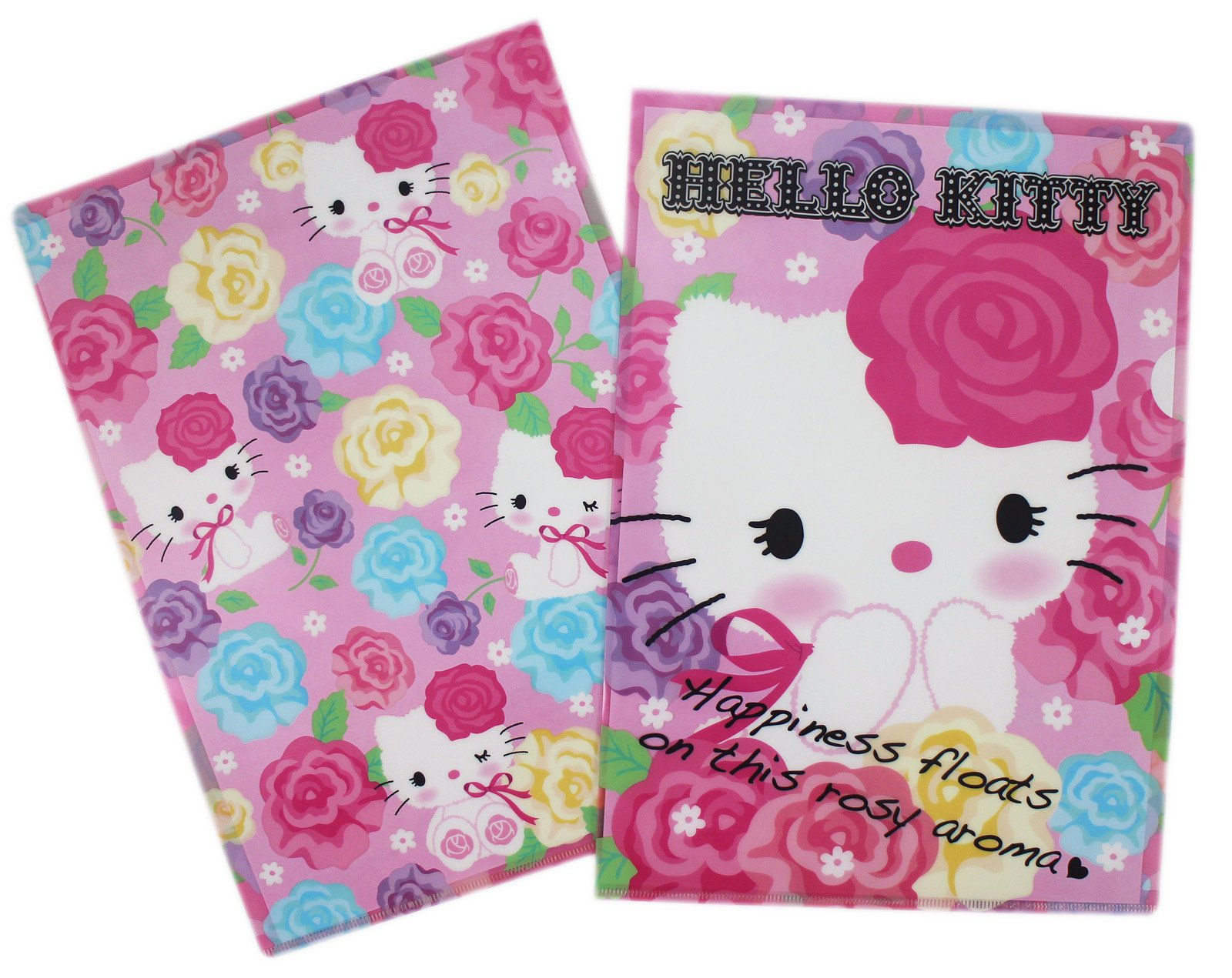 【卡漫迷】Hello Kitty 資料夾 兩入組 ㊣版 三麗鷗 凱蒂貓 L開口 文件夾 檔案夾 香港限定版