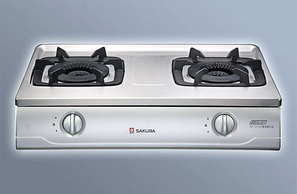 內行人在用.外行人只能用看~櫻花牌雙內焰G5700KS不鏽鋼安全台爐 舊換新G-5700KS含