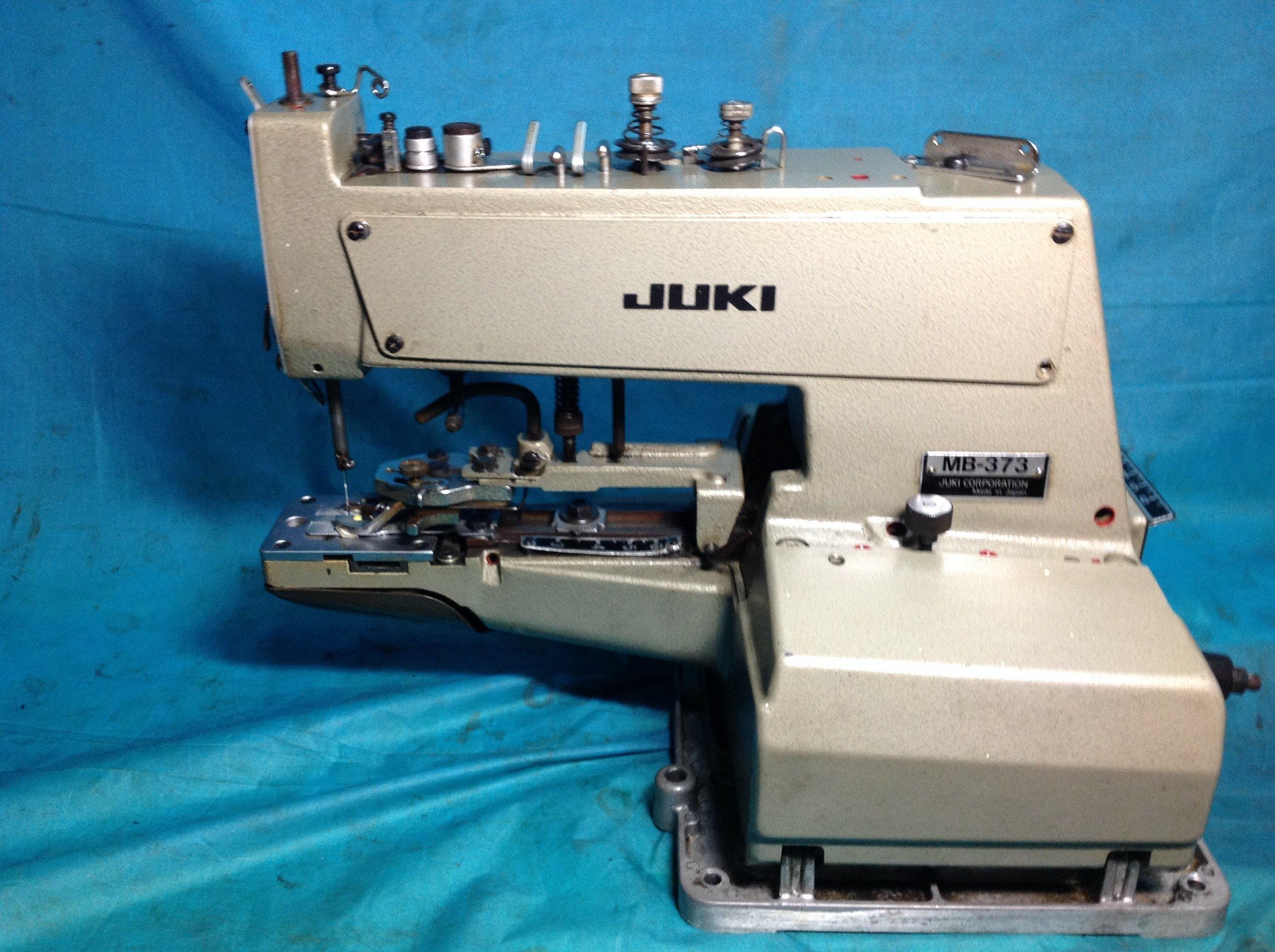 工業縫紉機 日本制 JUKI  373型依服 釘扣機, 釘襪子,牛仔褲紙牌丶布廠用釘布邊機,自動切線耐操全自動
