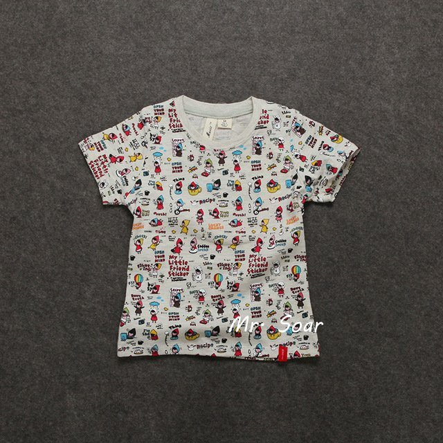 【Mr. Soar】 ** **  韓國style 女童純棉灰色短袖T恤上衣  B385