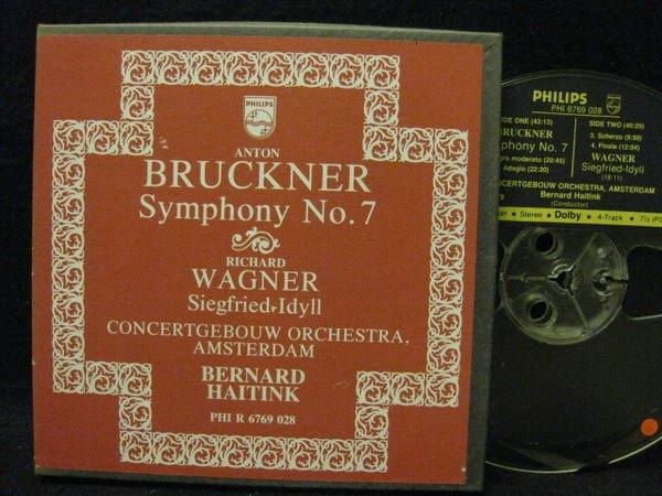 《7吋美版盤帶Reel Tape》古典樂*Bruckner: No.7交響曲*海丁克/阿姆斯特丹音樂廳交響*Philips