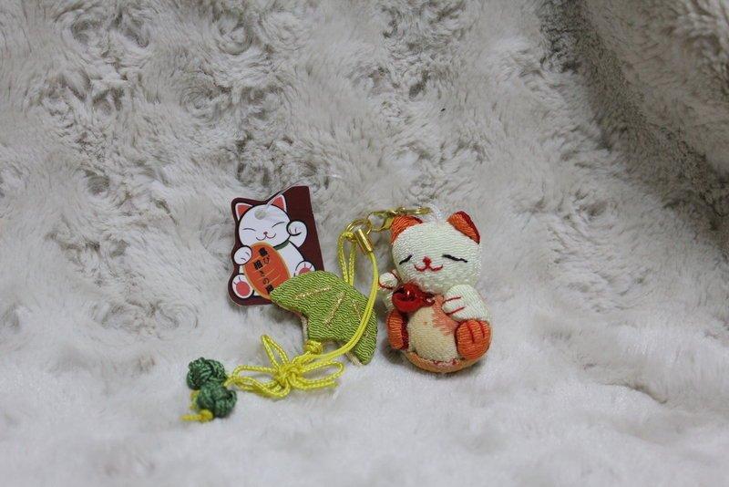 帶回 超可愛 風 和風 布藝 招財貓 橘色款  掛飾  收藏 特色 吊飾 包包掛飾 掛飾 品