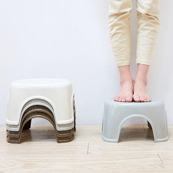 居家日用二期!!!家用塑料小板凳浴室矮凳加厚小塑料凳幼兒園小方凳子 簡約