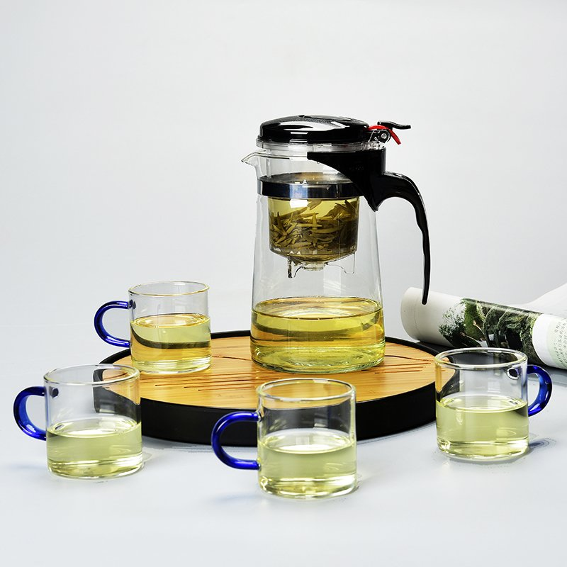 SX千貨鋪-耐熱玻璃飄逸杯茶壺玲瓏杯不繡鋼內膽過濾泡茶器茶道茶具套裝茶杯#玻璃杯#酒杯#水杯#茶杯#杯子套裝