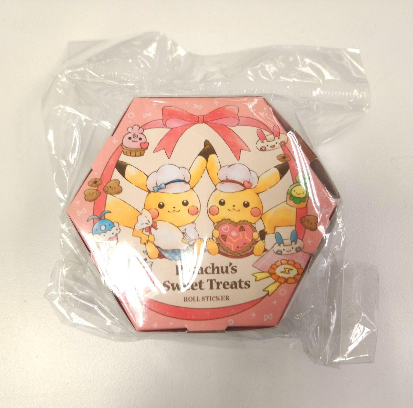 日版神奇寶貝寶可夢捲捲長條貼紙紙盒裝Pokemon貼紙甜點甜甜圈手繪插畫風格