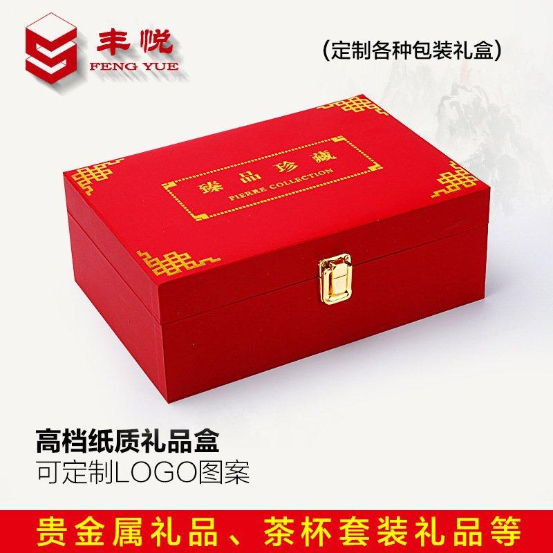 熱銷款-純銀擺件燙金禮品盒 古典式紋路特種矩形送禮專用包裝盒