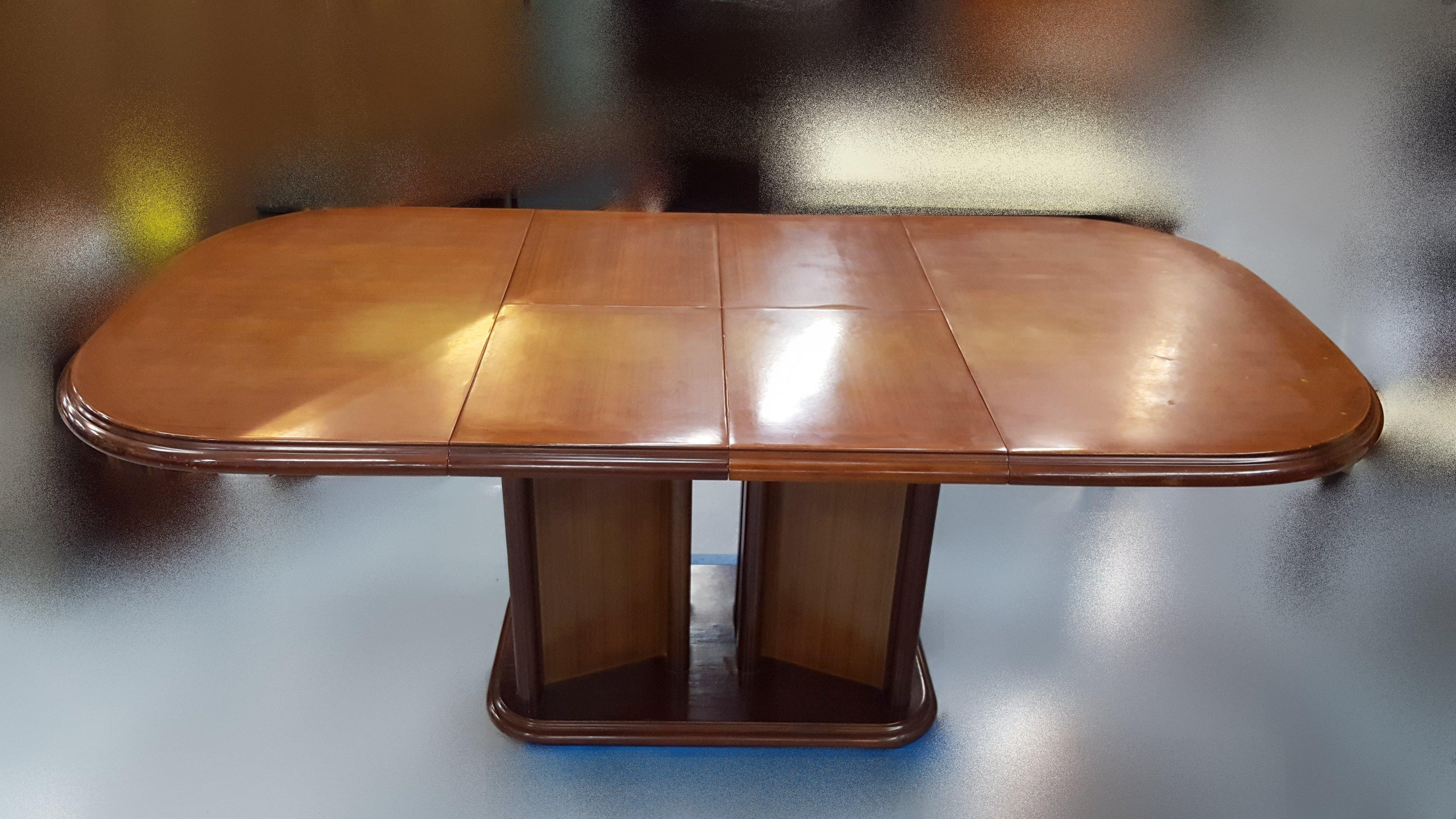 【宏品二手家具館】中古家具 家電E63008*木色餐桌*咖啡桌/會議桌/洽談桌/中古 書桌椅 會議桌椅 辦公桌椅