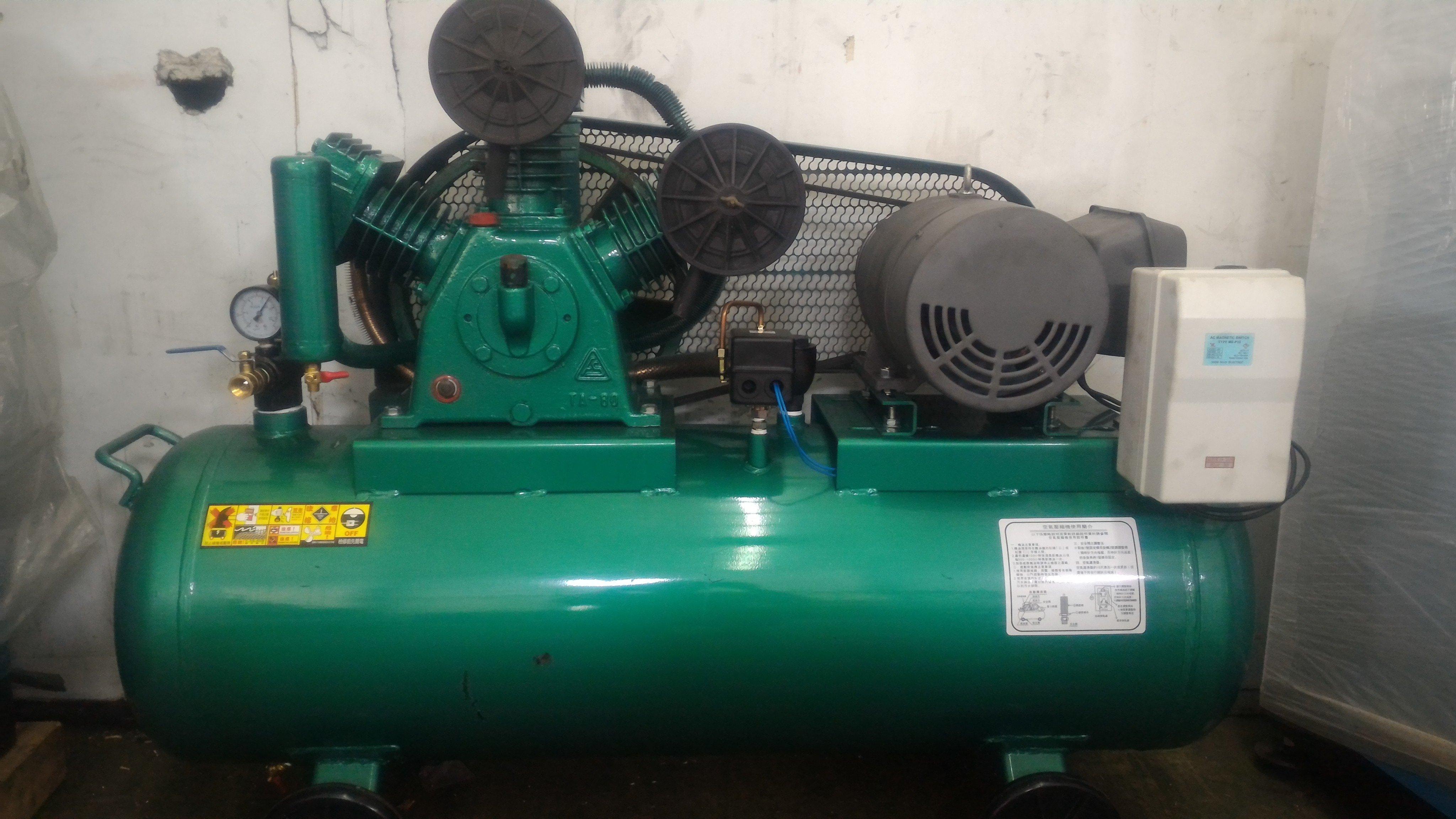 中古5HP復盛型高壓空壓機 三相220V(修車業專用機)