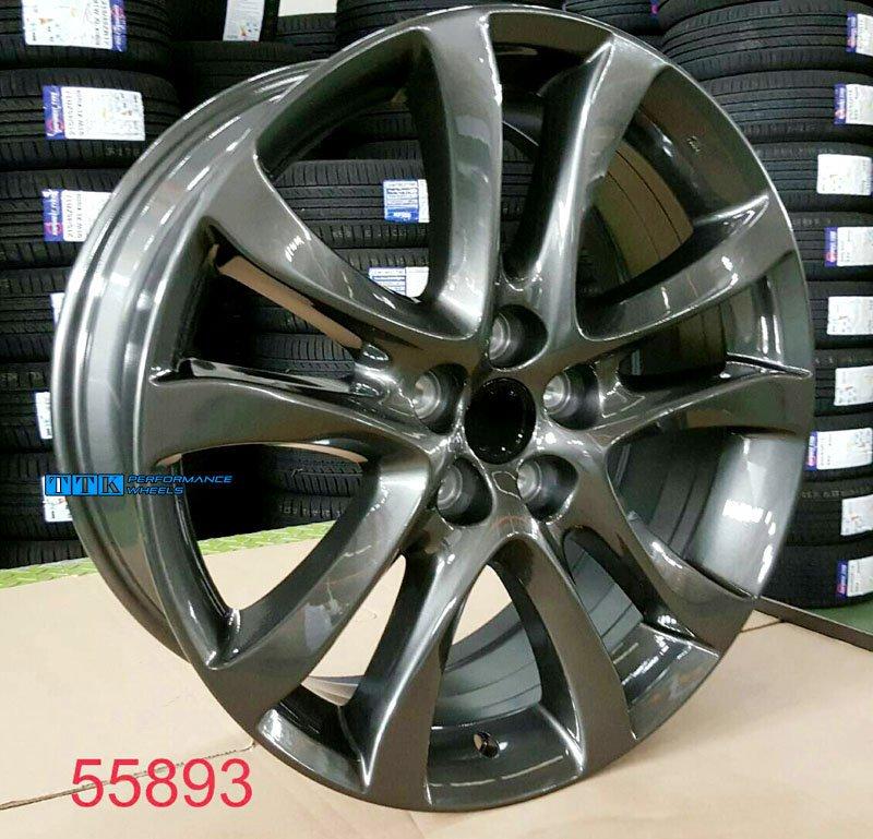 【員林小茵輪胎舘】Mazda馬6 專用鋁圈 類原廠型 19吋 5孔114.3 7.5J ET45 中心孔67.1 亮灰色