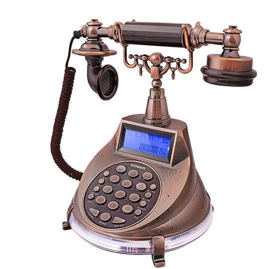 【胖胖秀OA】旺德WONDER WT-04仿古來電顯示電話機