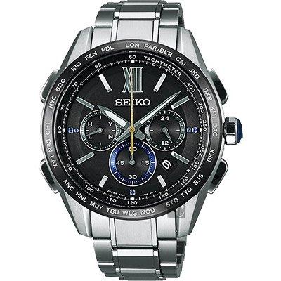 可議價.「1958 鐘錶城」SEIKO精工錶 Brightz 時尚限量鈦金屬太陽能電波腕錶(SAGA225J)/44mm