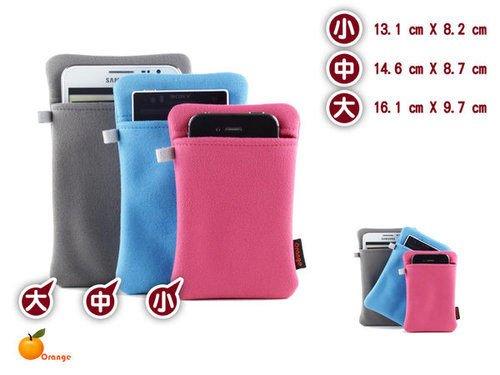 【屏東星宇通訊】增厚版Orange 超細纖維收納 手機袋 Samsung HTC APPLE IPHONE 5 4
