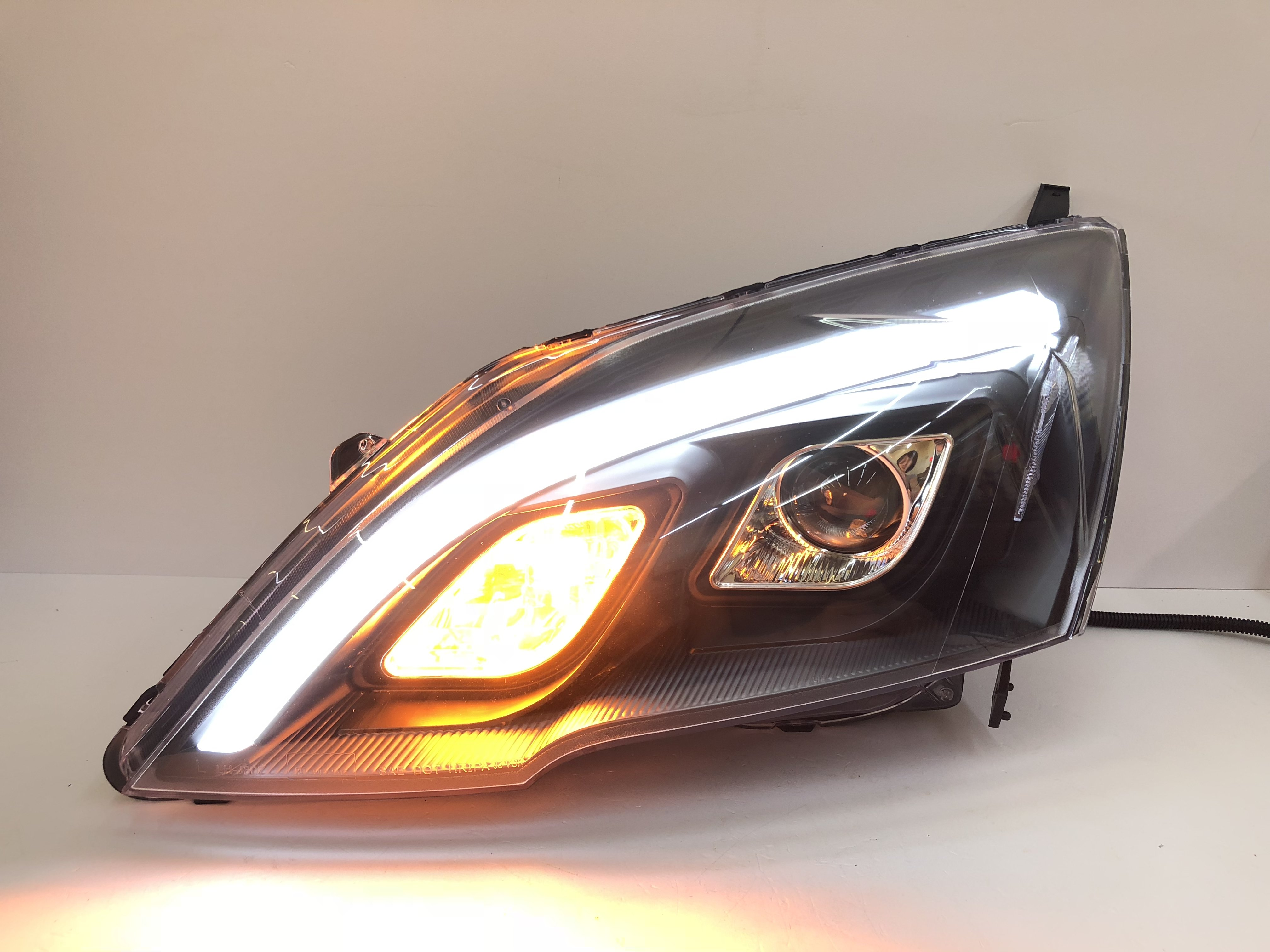 合豐源 車燈 CRV 3代 3.5代 大燈 頭燈 LED 導光 燈眉 07 08 09 10 11 魚眼 透鏡 三代