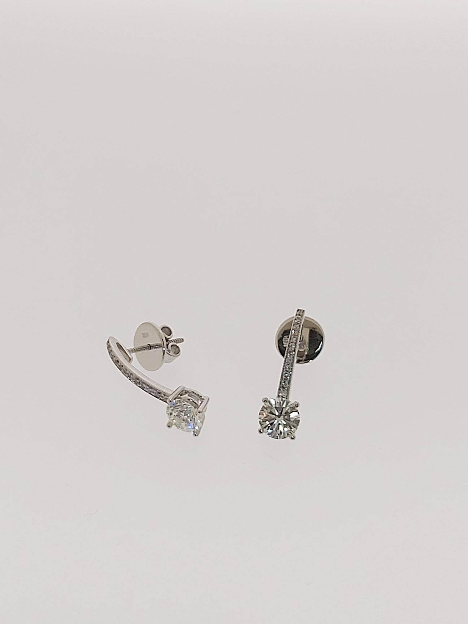 【益成當舖】流當品 1.01ct 一克拉鑽石耳釘耳環