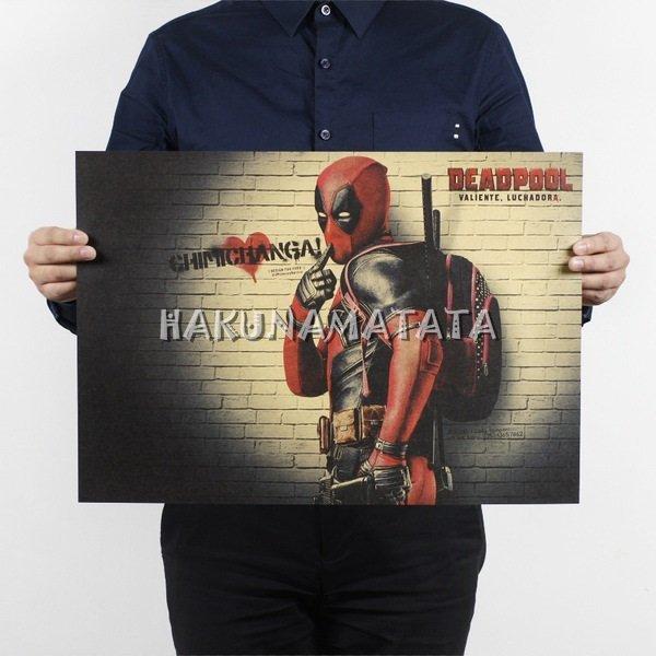 【貼貼屋】死侍 Deadpool 漫威系列 電影 懷舊復古 牛皮紙海報 壁貼 店面裝飾  795