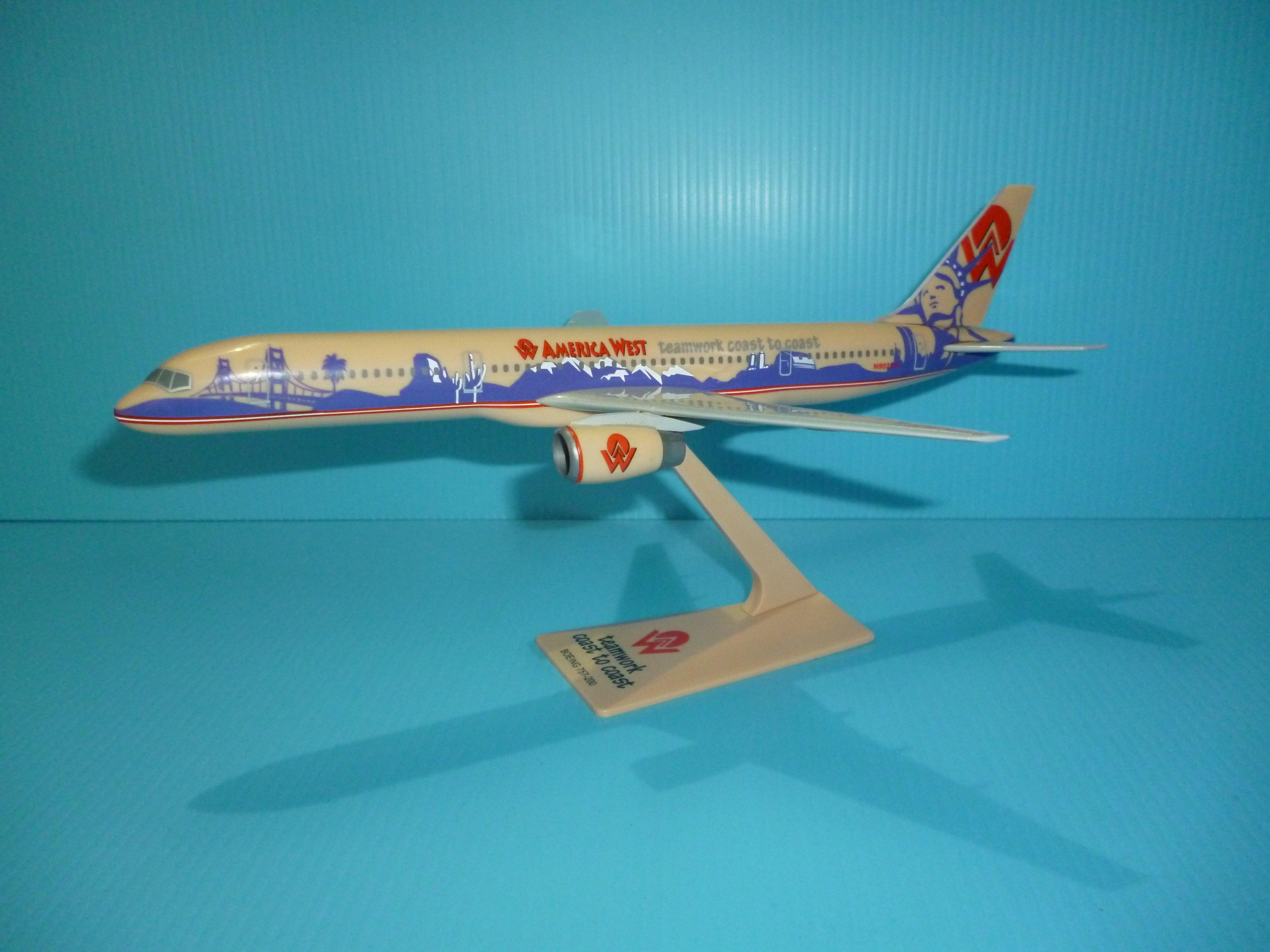 珍上飛模型飛機:B757-200 (1:200)america west teamwork co(編號:B757254)