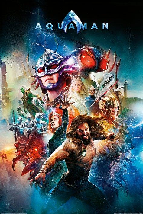 英國 海報 PP34468 (DC正義聯盟 水行俠 Aquaman (Battle For Atlantis))