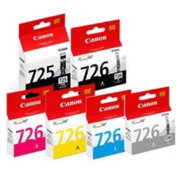 壬成洋行 【CLI-725 黑色 CLI-726 C/M/Y/BK/GY 彩色 盒裝】CANON 100% 原廠墨水匣