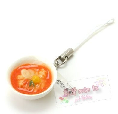 【象牙 Cute Ta】韓國 DBURGER  Kimchi stripes 泡菜拉麵  手機吊飾 / 相機吊飾