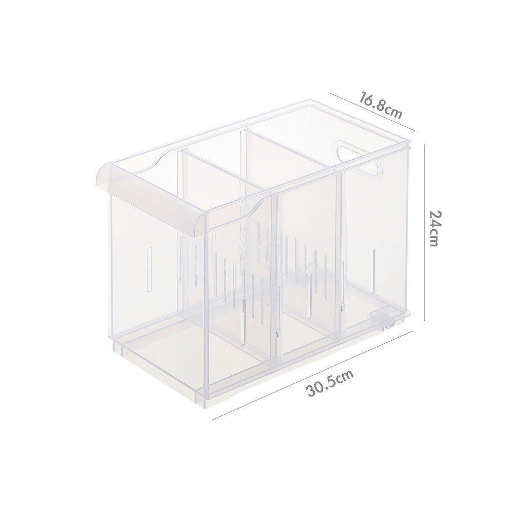 『6個以上 』 LF2003隔板整理盒(附輪) 浴室收納 廚房收納 辦公室文具收納 小物收納 PP盒 冰箱收納