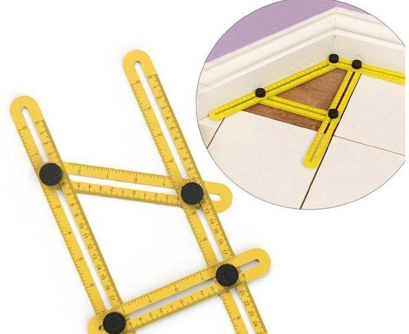 【活動四角尺】DIY裁切 測量萬用多邊測量器 折尺不規則折疊尺滑動塑料尺廣告尺子