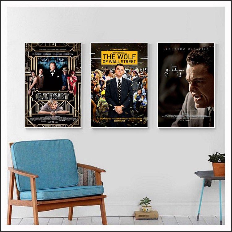製畫布 電影海報 大亨小傳.華爾街之狼.胡佛傳 掛畫 嵌框畫 @Movie PoP 賣場多款海報~
