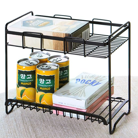 Color_me【W27】鐵藝雙層置物架  鐵藝噴漆 廚房 調料架 調味品 廚具收納架 置物架 雙層落地架 浴室 櫥